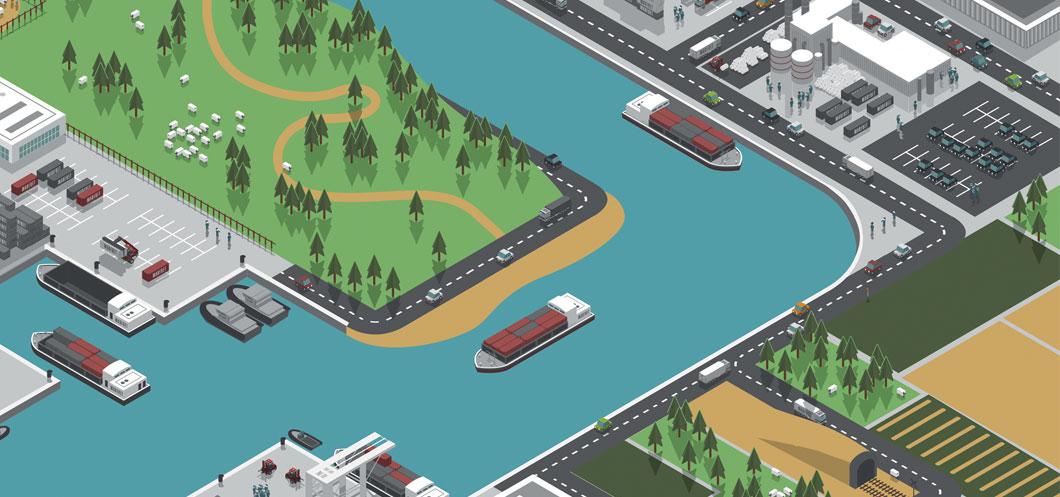 Transport hinterland