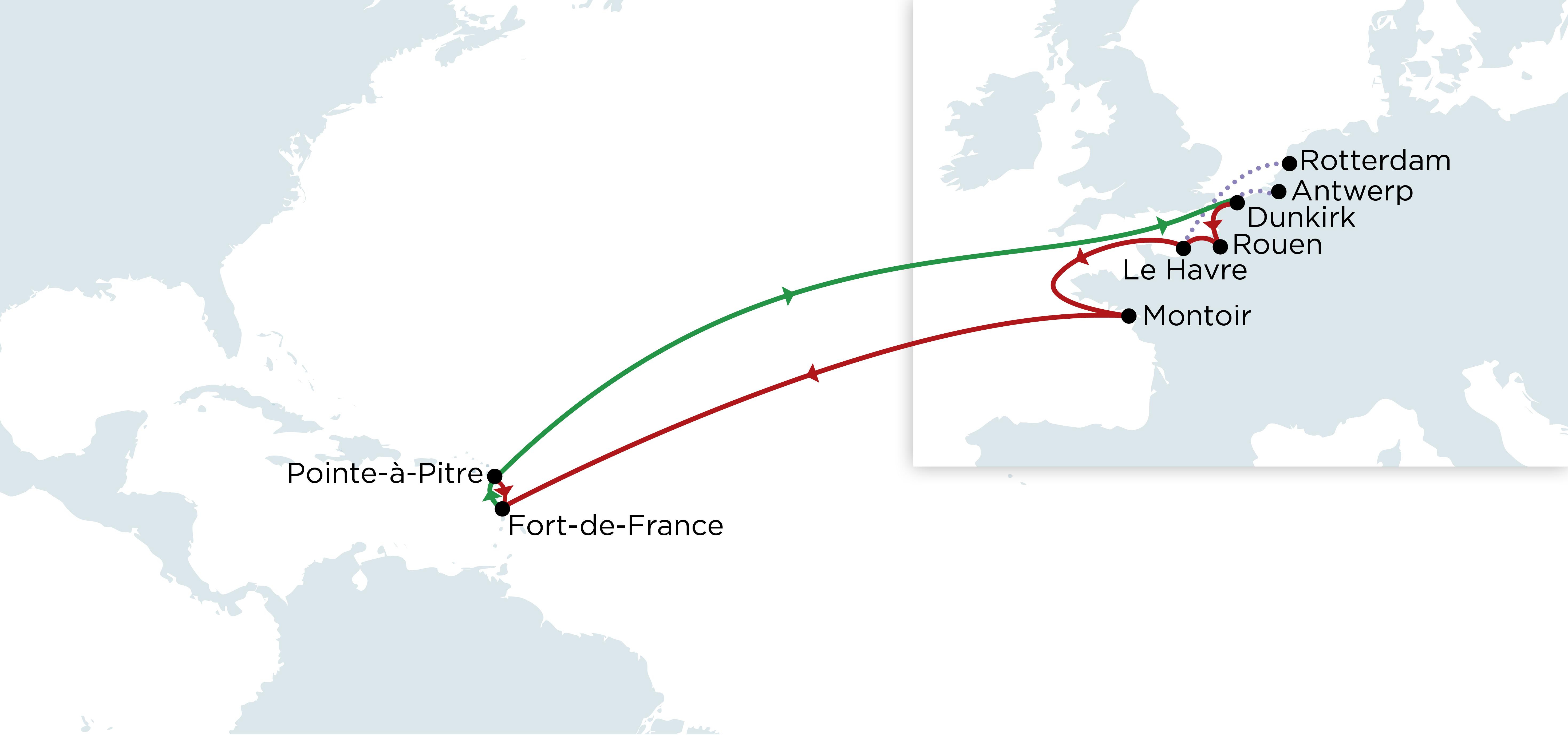 North of France - Antilles Line