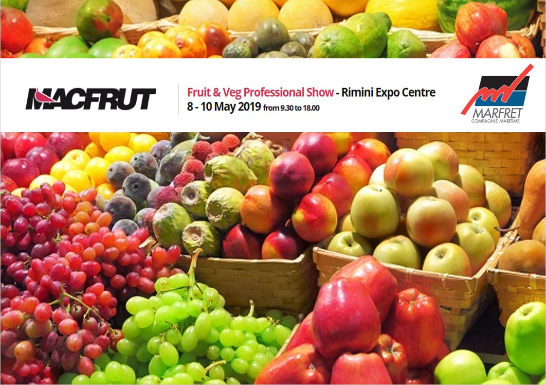 MACFRUT 2019 – From 8th to 10th of May – Rimini, ITALY